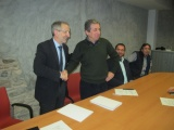 Es signa el conveni entre l'Associació dels polígons Congost i Jordi Camp i l'Ajuntament